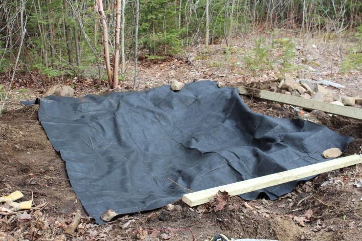 Pond liner underlay added